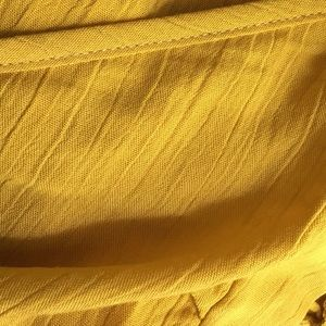 Boutique Tops - ➳ Boutique Mustard Criss Cross Wrap Crop Top